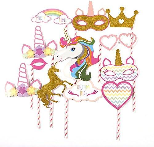 Rrunzfon Unicornio Photo Booth Props Feliz Cumpleaños DIY ...