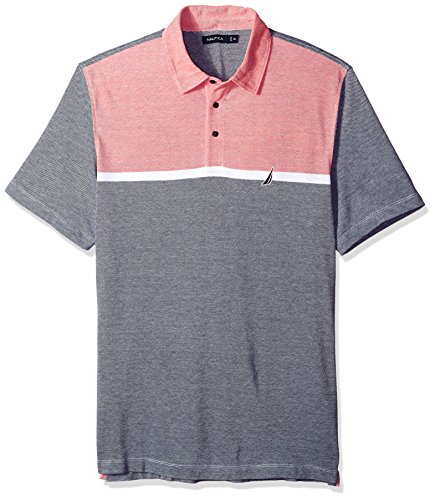 Pique Shirt Golf Oxford - Nautica Men's Short Sleeve Colorblock Cotton Oxford Pique Polo Shirt, True Navy XX-Large