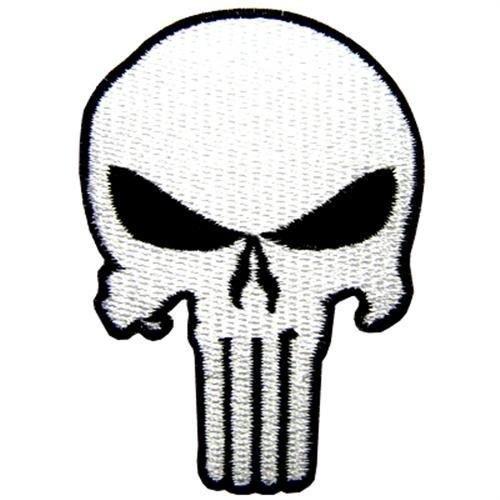 Punisher Navy Black Eyes Seal Skull Iraq Taliban Paintball Guns Jacket Embroidered Iron on Patch (Iron Paintball Gun)