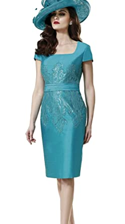 3a828560fe3 Nube Mother Of The Bride Dresses Satin Knee Length With Jacket Short Dresses  (6