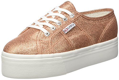 Superga Womens 2790 Lamew Canvas Trainers Rose Gold