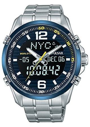 Pulsar Reloj Analógico Unisex con Correa de Chapado En Acero Inoxidable - PZ4003X1: Amazon.es: Relojes