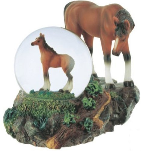- George S. Chen Imports Snow Globe Horse with Foal Collection Figurine