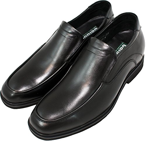 Calden - K312318-2.6 inches Taller - Height Increasing Shoes for Men (Black Super Lightweight Slip On) 4KzKX8