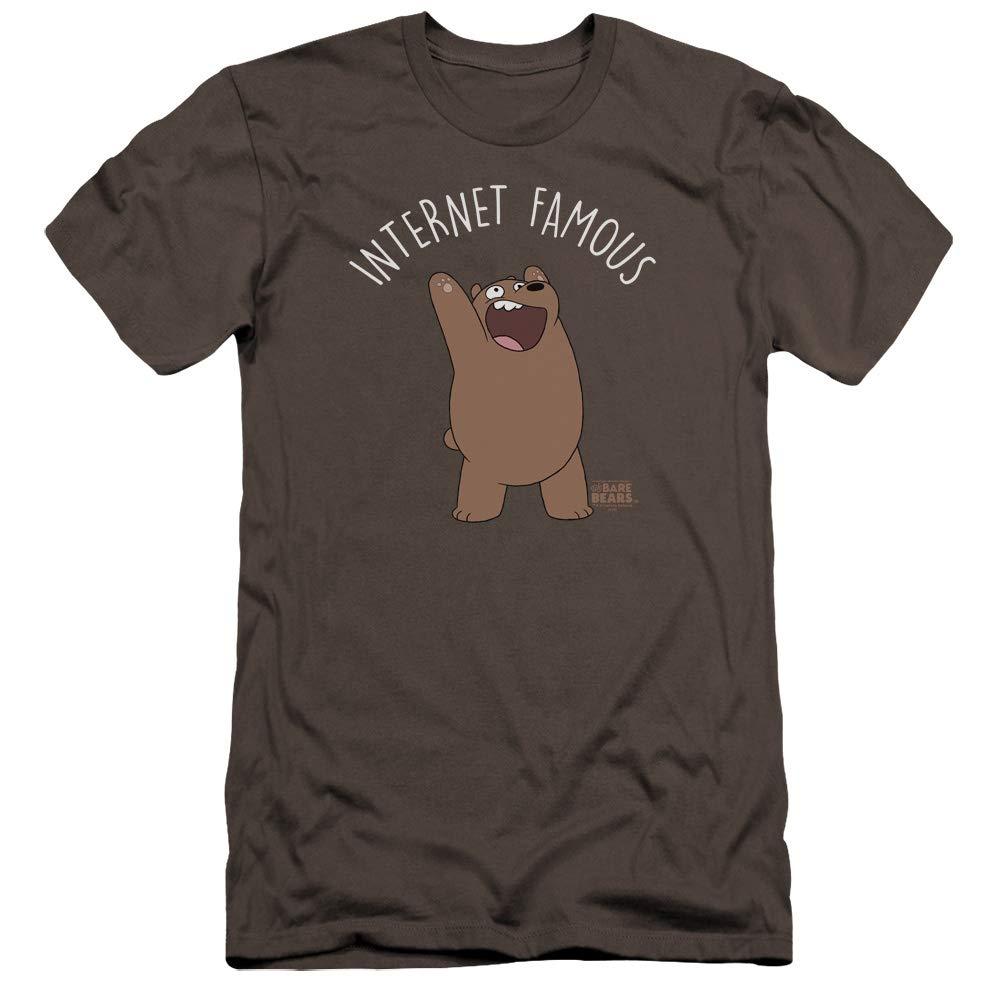 1f681336b9fcf Charcoal We Bare Bare Bare Bears Mens Internet Famous Premium Slim Fit  TShirt 7ac60e