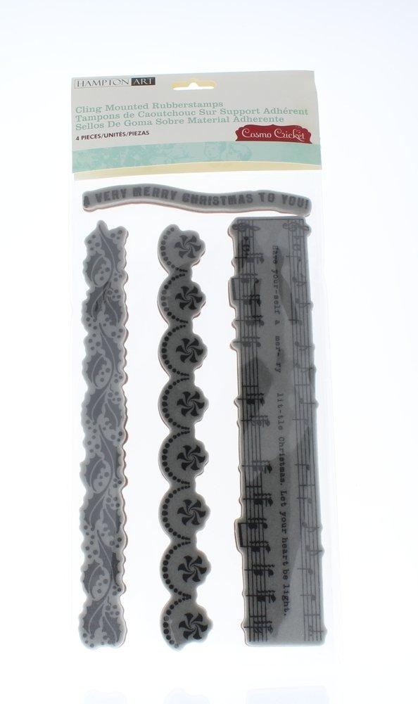 Hampton Art cling stamps seasons greetings