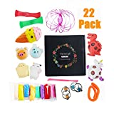 VORRTE 22 Pack Sensory Fidget Toys Set-Bike Chain/Unicorn and Dinosaur Squeeze Grape Ball/Mesh &Marble Toy/Magic Ring/Squishy Toy for ADD ADHD, Calming Toys for Anxiety,Stretch Toys For Children/Adult