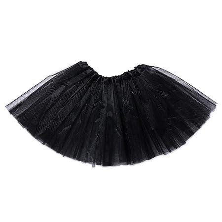 HeiHy Falda de Ballet para niña con Capas de tutú de Princesa para ...