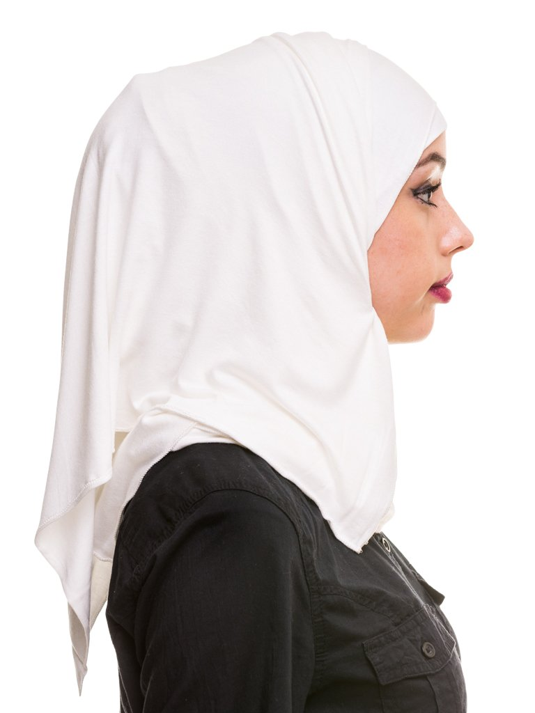 Kashkha Women's Plain Cotton Jersey Lightweight Hijab Scarf, Off White, 22inches Width*77inches Length /(55cm*200cm) by Kashkha (Image #2)