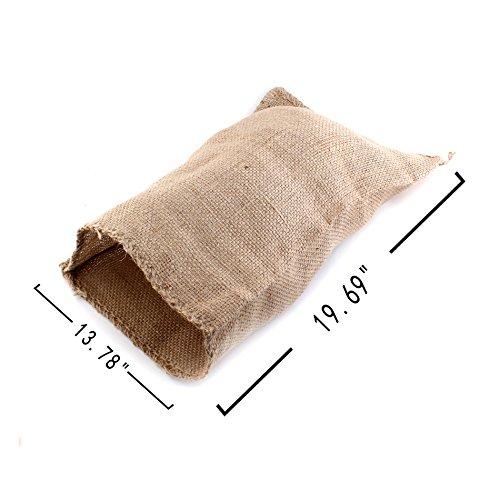"13.78"" x 19.69"" Hopping Jumping Games Sandbags Natural Burlap Potato Sacks Race Bags, Pack of 2"