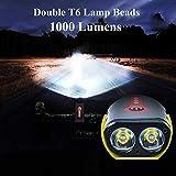 BurningSun Bike Light Set 5 Mode 1000 Lumens