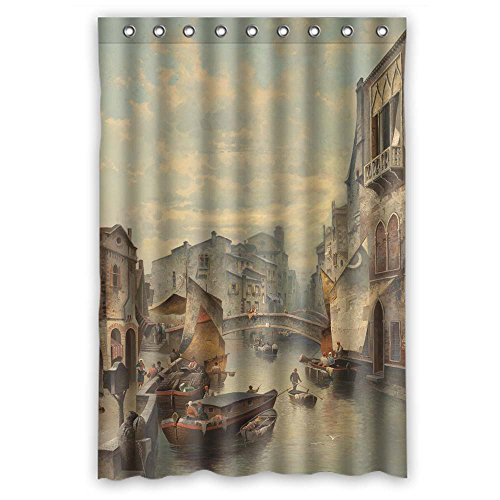 Husky Lambswool (Monadicase Polyester Christmas Shower Curtains Of Beautiful Scenery Landscape Painting For Father Husband Hotel Father Couples. Modern Design Width X Height / 48 X 72 Inches / W H 120 By 180 Cm(fa)