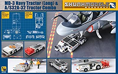 Shunkmodels 1/48 MD-3 Navy Tractor (long) & A/S32A-32 tractor Combo SW-48005