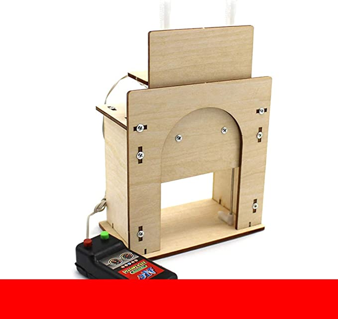 Toyvian Modelo DIY Casa Ascensor Puerta de Madera Garaje de ...