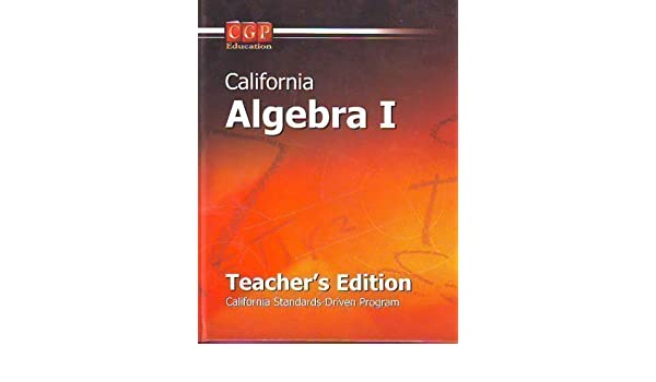 algebra i w cd ca te cgp education 9781600170133 amazon com rh amazon com
