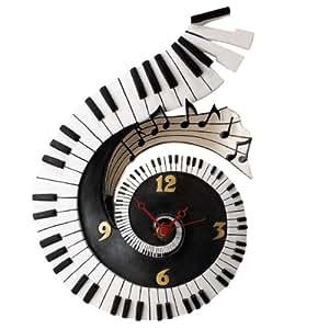 Timewarp A21572 - Reloj de pared con diseño de teclado de piano
