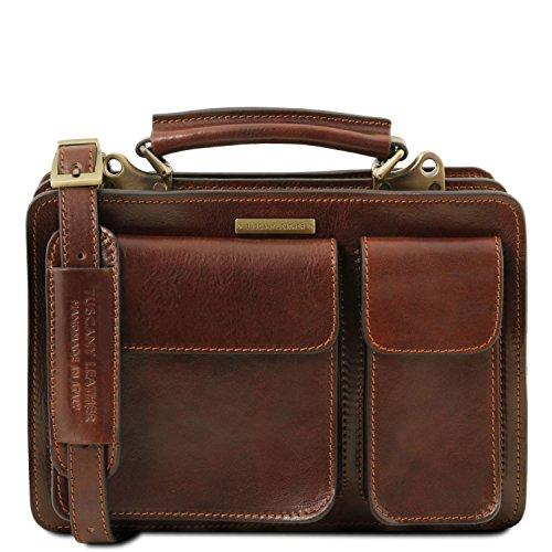 Leather Tuscany Handbag Tania Lady Brown Dark z7Bax7dw