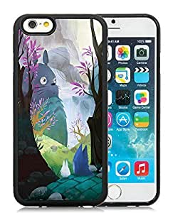For Case Iphone 6Plus 5.5inch Cover My Neighbor Totoro Black PC Screen Phone Case Unique and Fashion Look