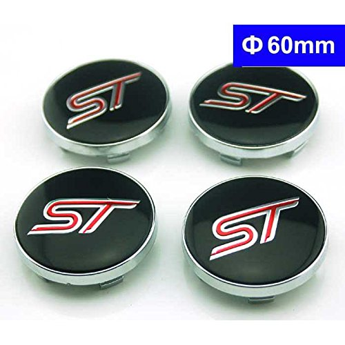 4pcs W188 60mm Car Styling Accessories Emblem Wheel Hub Caps Center Cover ST for Ford Focus 2 Focus 3 Fiesta Kuga Fusion Escape Edge 4agegarage® 4agegaragea2255