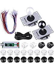 Arcade Joysticks Game Kits, Quimat 2 Spieler Zero-Delay-Arcade Game DIY Kits USB Encoder Wege Joystick Push Button für Mame Jamma & andere Kampfspiele und für PC und Raspberry Pi 1/2/3