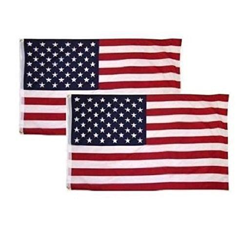 2 PACK - 3x5 Ft USA American Nylon Printed Flag Stars Gromme