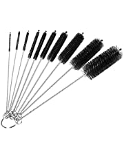 Bottle Cleaning Brushes, 8 Inch Nylon Tube Brush Set, Cleaner for Narrow Neck Bottles Cups with Hook, Set of 10pcs