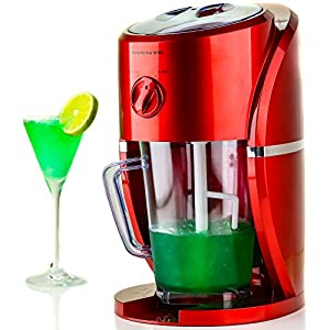 Ovente Electric Ice Crusher and Shaver, Concoction Maker, 37 oz, 2 Shaving Settings (Snow or Slush), Detachable Parts, Built-In Cord Storage (ICR2037R)