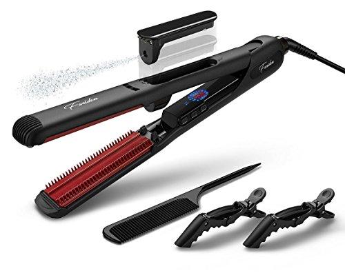 Steam Hair Straightener, Black Hair Straightening Iron Free acessories