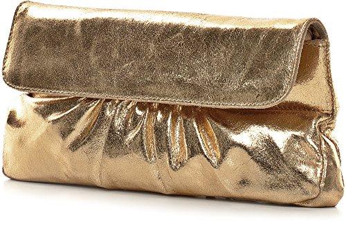 à 15 cm 31 Sac Main 2 Soirée Cuir or Femme Pochette x porté Effet Métallique CNTMP 5 Sac Main x Clutch clair ZfqAwA8