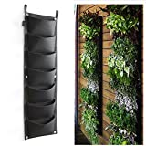 7 Pocket Hanging Vertical Garden Wall Planter For Yard Garden Home Decoration