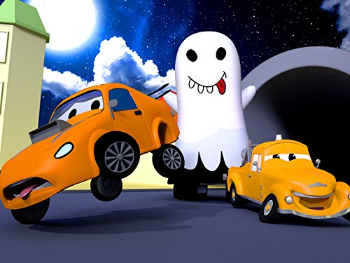 Halloween ! Edgar the excavator is a Ghost/Ethan the Dump Truck is a T- Rex -