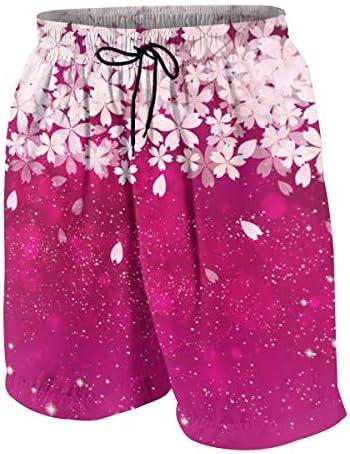 キッズ ビーチパンツ 桜 サクラ 和柄 和風 サーフパンツ 海パン 水着 海水パンツ ショートパンツ サーフトランクス スポーツパンツ ジュニア 半ズボン ファッション 人気 おしゃれ 子供 青少年 ボーイズ 水陸両用
