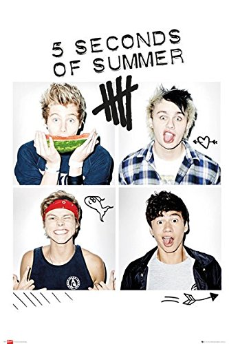 5 Seconds of Summer - Squares Poster 24 x 36in