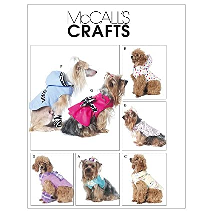 Amazon.com: McCall\'s Patterns M6218 Dog Clothes, All Sizes: Arts ...