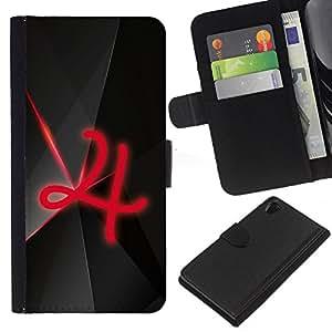 KLONGSHOP // Tirón de la caja Cartera de cuero con ranuras para tarjetas - 4 - Sony Xperia Z2 D6502 //
