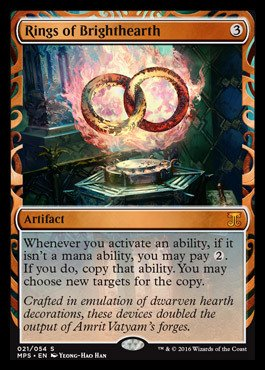 Magic: the Gathering - Rings of Brighthearth (021/054) - Masterpiece Series: Kaladesh & Aether Revolt Inventions - Foil by Magic: the Gathering