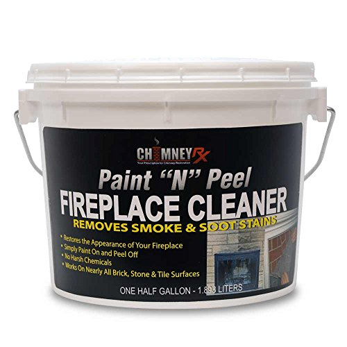 Cleaner Fireplace (CHIMNEYRX Paint & Peel Fireplace Cleaner, 1/2 Gallon - Removes Fireplace Smoke & Soot Stains from Brick, Tile, Stone Surfaces)