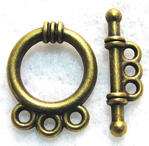 50Sets Wholesale Tibetan Antique Bronze 3-Strand Toggle Clasps Connectors Q0746 Crafting Key Chain Bracelet Necklace Jewelry Accessories Pendants