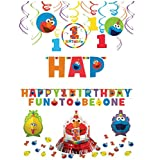 1st Birthday Elmo Sesame Street Basic Decoration Kit Banners Elmo Fun to be One!