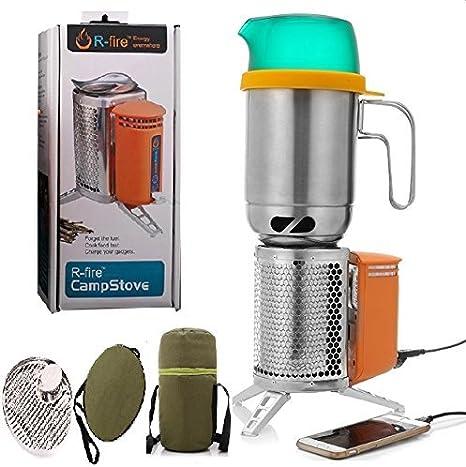 RFire - Estufa de leña todo en 1 para camping o cocina ...