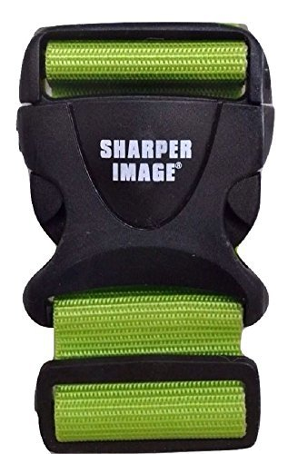 sharper-image-6ft-adjustable-luggage-strap-lime-green