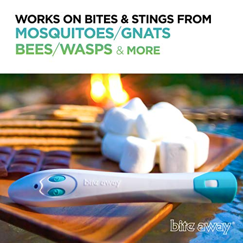 bite away®- Insect Sting and Bite Electronic Relief, FDA Cleared and Dermatologist Tested, Easy to use, Instant Itch Relief, Reduces Pain and Swelling, and Safe for Ages 2+