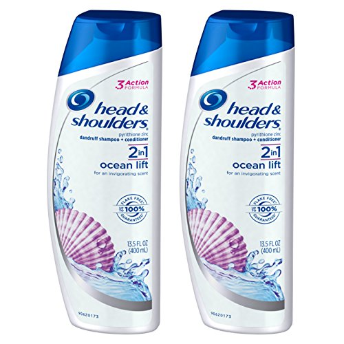 Head and Shoulders Ocean Lift 2-in-1 Anti-Dandruff Shampoo + Conditioner 13.5 Fl Oz (Pack of 2)