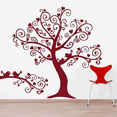 dreamkraft鳥ツリー壁の装飾アートステッカービニールデカールホームデコレーションリビングルーム&子供のベッドルーム(43 x 37インチ) B07C889671