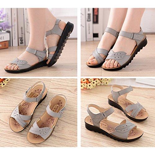 Zapatos C Summer Shoes Cuero Edad Bottom ZCJB Mom De Mediana De De Mujer Soft OtqSpa1f