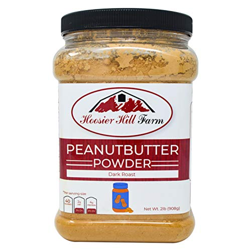 (Dark Roast Peanut Butter Powder by Hoosier Hill Farm, 2 Lb. (28% Fat))
