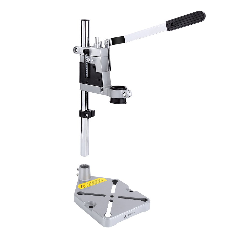 Drill Workbench Repair Tool Clamp - Universal Bench Clamp Drill Press Stand Workbench Repair Tool for Drilling Collet Workshop. Single Hole Aluminum Base