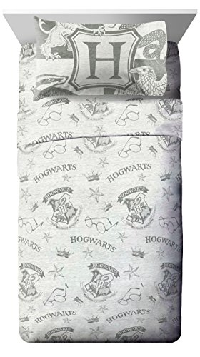 Jay Franco Harry Potter Spellbound Full Sheet Set - 4 Piece Set Super Soft and Cozy Kid's Bedding Features - Fade Resistant Polyester Microfiber Sheets (Official Harry Potter Product) ()