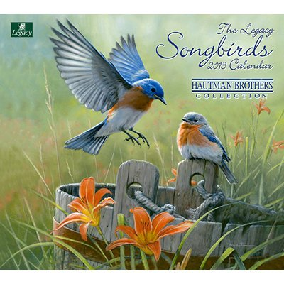 2013 Calendar Hautman Brothers Songbirds 2013 Mini Wall Calendar