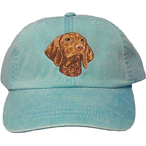 Cherrybrook Dog Breed Embroidered Adams Cotton Twill Caps - Caribbean Blue - Vizsla (Vizsla Hat)